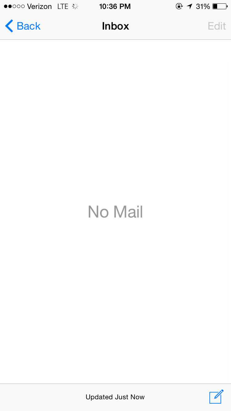 Apple Inbox Zero UI